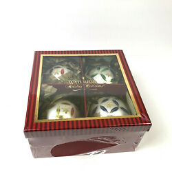 Waterford Christmas Ornament Holiday Heirlooms Set 0f 4 New In Box