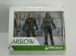 New Dc Collectibles Arrow Oliver Queen + Deathstroke Action Figure 2 Pack Cw