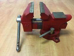 Vintage Sears 3-1/2'' Jaw Vise Swivel Bench Pipe For Craftsman 5178 Red 10lbs