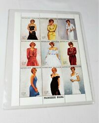 Princess Diana Stamp Sheet Collection With Coa - Limited Edition Rare