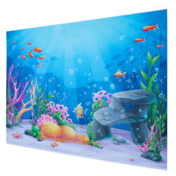 1pc Cartoon Underwater Wall Tapestry Hangings Tapestry Photo Backdrop for Studio