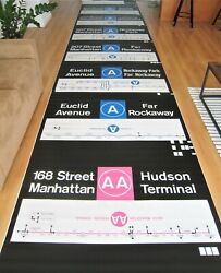 Vintage 1970s New York Subway R44 Side Route Roll Sign Bmt Ind Complete Nos Rare