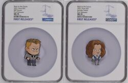 2021 Chibi Coin Back To The Future Biff And Jennifer Ngc Ms70 Fr W/ogp