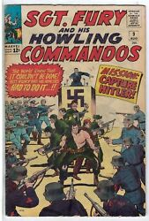 Sgt. Fury And His Howling Commandos 9 Vg Vy Gd Plus Rs003 Orig Us