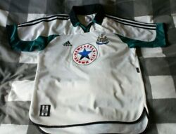 Vintage Newcastle United 1999 Adidas Away Shirt Top Jersey, Med, Brown Ale