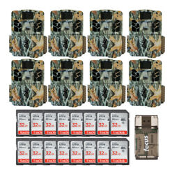 Browning Trail Cameras 18mp Dark Ops Apex Game Cam 8-pack Kit With 32gb Sd Cards