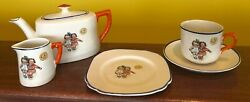 Vintage, 2 Girls/the Moon, Children's Size Tea Set/by Empire Ware, England/ Lot5
