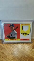 2018 Topps Heritage Baseball Clint Frazier Rookie Game Used Memorabilia Relic