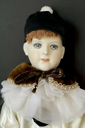 """Vintage Reproduction Antique of French Francois Gauthier 32"""" Character Doll"""