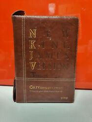 The Best Korean-english Study Bible New King James Version Leather Cover Zipper