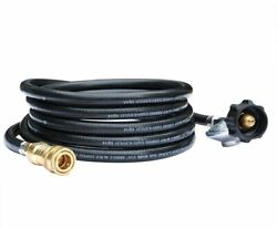12 Ft Propane Regulator Hose For Mr. Heater Big Buddy With 3/8 Quick Disconnect