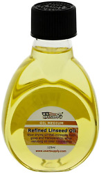 U.s. Art Supply Refined Linseed Oil, 125ml / 4.2 Fluid Ounce Container
