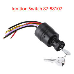 Ignition Switch Push To Choke Replaces 87-88107 For Marine Boat Mercury 6 Wires