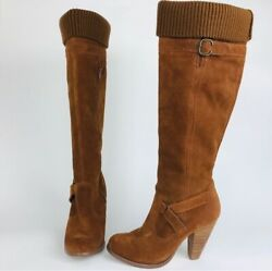 Seychelles Folklore Suede Knee High Heeled Boots In The Whiskey Colorway Size 7