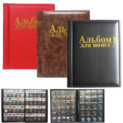 10 Pages 250 Album Coin Penny Money Storage Book Case Folder Holder Collection