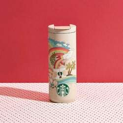 Starbucks Joy Of Connection Stainless Steel 16oz Travel Cup Mug Tumbler - New