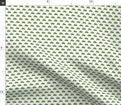 Micro Scale Green Tractors Farming Farm Tractor Spoonflower Fabric By The Yard