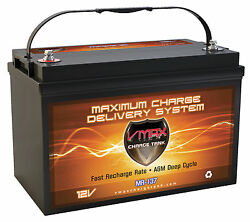 Vmax Mr137 For Velocity Power Boat W/group 31 Marine Deep Cycle 12v Agm Battery