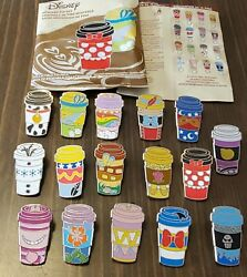 Disney Pins Coffee Cups Mystery Series Complete Set Of 16 Free Shipping