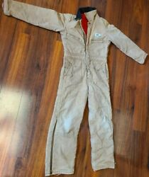 Vtg Red-white-blue Insulated Coveralls Jumpsuit Canvas Youth Boys Size 12 Usa