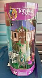 Tangled Tower Playset Rapunzel Disney Parks 5 Figures Nib Discontinued Retired