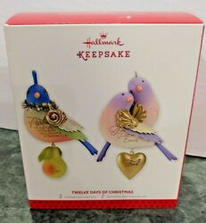 Hallmark Christmas 12 Days Partridge Turtle Doves Ornaments 2013 1st In Series