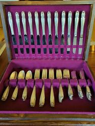 Stradivari By Wallace Sterling Silver Flatware Set For 12 Service 60 Pieces