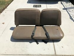 International Scout Ii Front Bench Seat Bases Sliders And Seatbelt Receiver