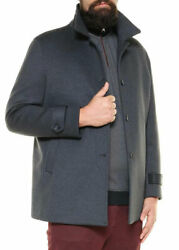 Jacket, Gray Gore-tex Coat With Buttons Plus Size Man. Big And Tall. Big Size.