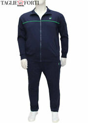 Blue Tracksuit Trousers Sweatshirt Cotton Jersey Plus Size Man. Big And Tall.
