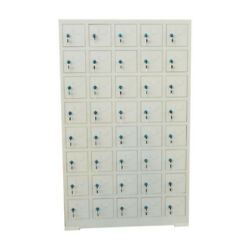 40 Door Compartment Key Lock Office Gym Storage School Mobile Phone Cabinets