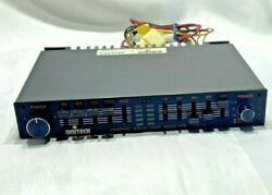 Vintage New Unitech Car Stereo Graphic Equalizer Booster W/ Fader Eq-10 60w+60w