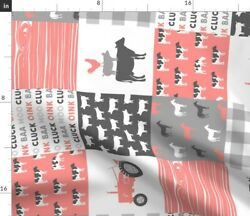 Horse Cheater Cows Farm Tractor Spoonflower Fabric By The Yard