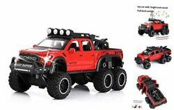 Toy Pickup Trucks For Boys F150 Raptor Diecast Metal Model Car With Sound Red