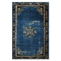 8'9 X 14'2 Early 1900s Hand Knotted Antique Chinese Art Deco Oriental Area Rug