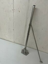 Stainless Steel Double Line Stanchion With Gate Brace, Removable Schaefer Base
