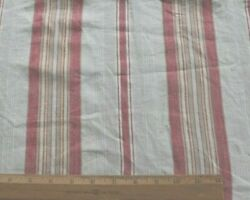 Lovely Old French 19thc Linen Farmhouse Mattress Ticking Fabricl-53 X W-22.5