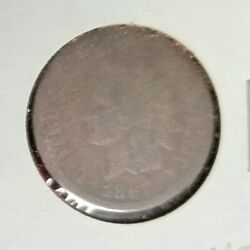 1867 Bronze Indian Head Cent Ag-good Condition - Free Shipping
