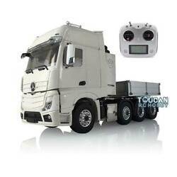 1/14 Lesu Metal Chassis Truck Hopper Sound Light Radio Rc Hercules Actros Cabin