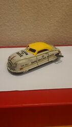 Vintage Marx Tin Wind Up Learn To Drive Safe Driving School Toy Car Works