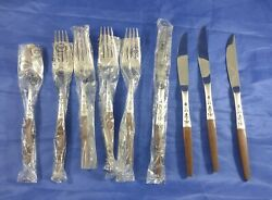 9 Pieces Mcm Grand Prix Danish Canoe Style Forged Stainless Flatware Japan