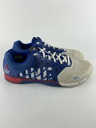 Reebok Crossfit Cf74 Shoes Sneakers Mens Size 12 Blue White Red
