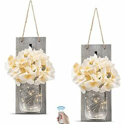Rustic Wall Sconces - Mason Jars Sconce, Rustic Home Large Rustic Grey