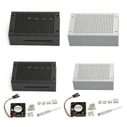 Aluminum Case Metal Heat Sink Shell Enclosure Cover For Raspberry Pi 4b Us