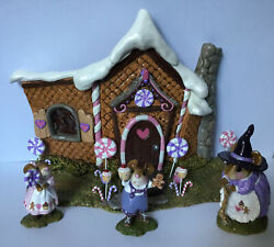 New Wee Forest Folk 2019 Event Set Hansel Gretel Witch Gingerbread House Rare