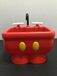 Disney Parks Mickey Mouse Pants The Kitchen Sink Ice Cream Dessert Dish Red