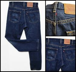 Rare Vintage Levi's 505 Jeans Regular Fit Staight Leg Made In Usa Size 32/30