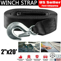 Heavy Duty Boat Trailer Replacement Winch Strap 2 X20and039 With Snap Hook Quick