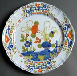 4 Sigma Carnation Dinner Plate Made In Italy. Pattern Discontinued In 1970.