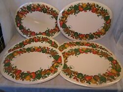 Set 6 Vintage Tc Spice Of Life Table Counter Placemats Plastic Foam Corning Ware
